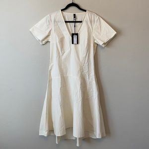 Y.A.S. White High Low Cotton Dress Size Large
